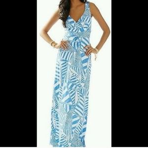Lilly Pulitzer Maxi sailboat blue dress